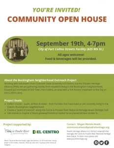 Buckingham Neighborhood Community Open House @ Fort Collins Streets Facility | Fort Collins | Colorado | United States