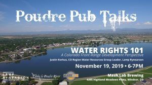 Poudre Pub Talk: Water Rights 101 @ Mash Lab Brewing | Windsor | Colorado | United States