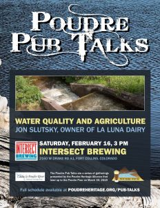 Poudre Pub Talk: Water Quality and Agriculture @ Intersect Brewing | Fort Collins | Colorado | United States