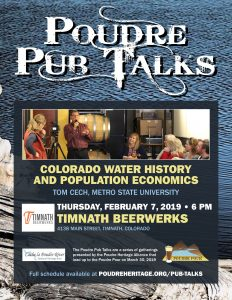 Poudre Pub Talk: Colorado Water History and Population Economics @ Timnath Beerwerks | Timnath | Colorado | United States